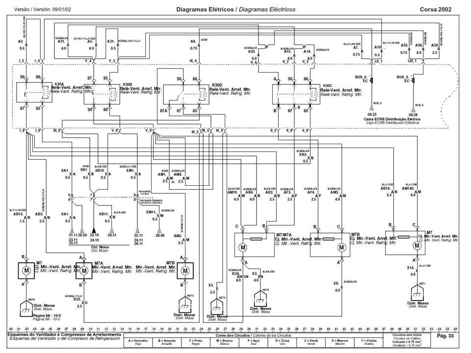 diagrama de relays y sus cables - electr u00f3nica
